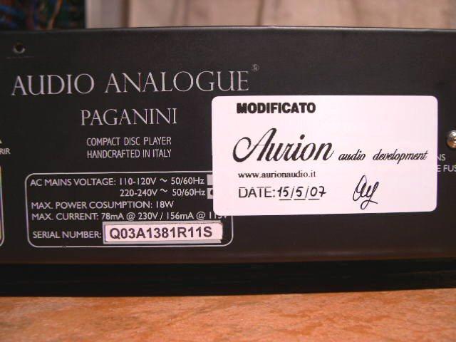 Audio Analogue Paganini 4