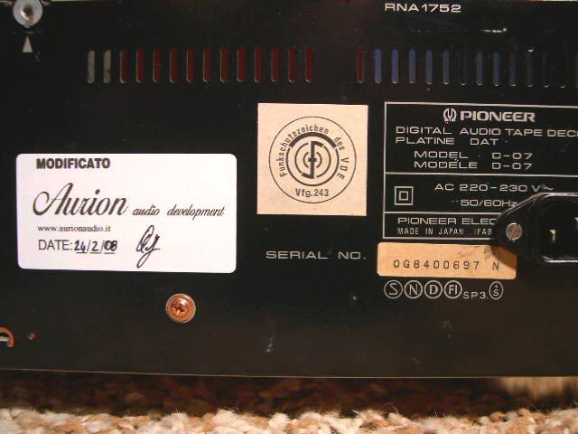 Pioneer DAT D-07 4